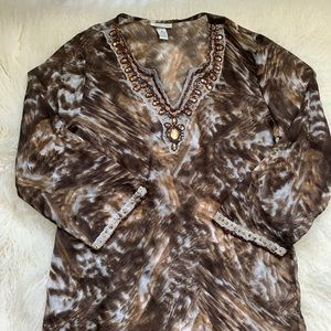Animal Print Swimsuit Cover Size M